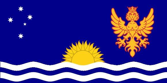 Die Flagge von Soulebda